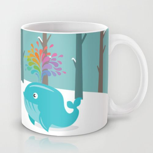 The Whale who met a gay Whale in the forest Mug