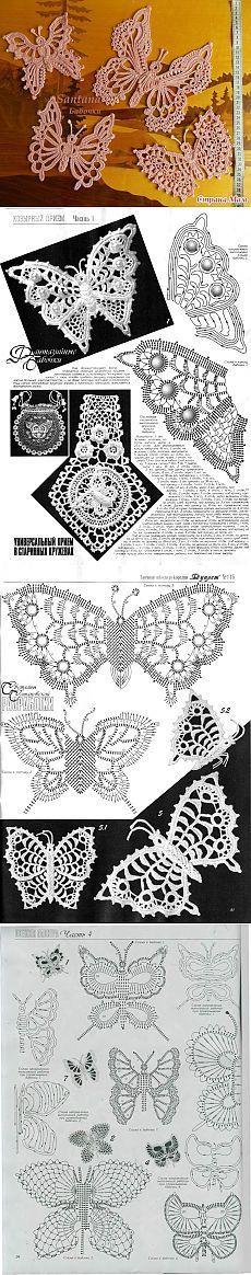 Los motivos de encaje irlandés (mariposa) - casa las mamás