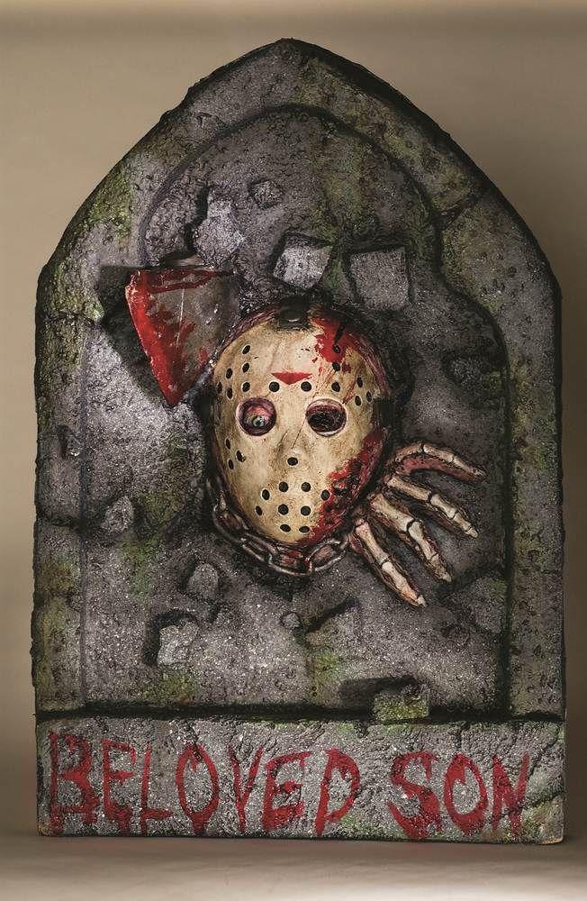 Jason Tombstone Halloween Prop