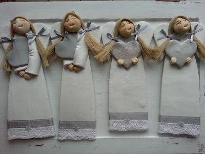 Pasja dekorowania                                                 : aniołki na Mikołajki