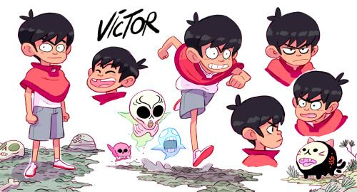 """Victor and Valentino"", a pilot created and directed by Diego Molano, has been released on Cartoon Network few weeks ago. I had the chance to do some research on the characters, here they are !"