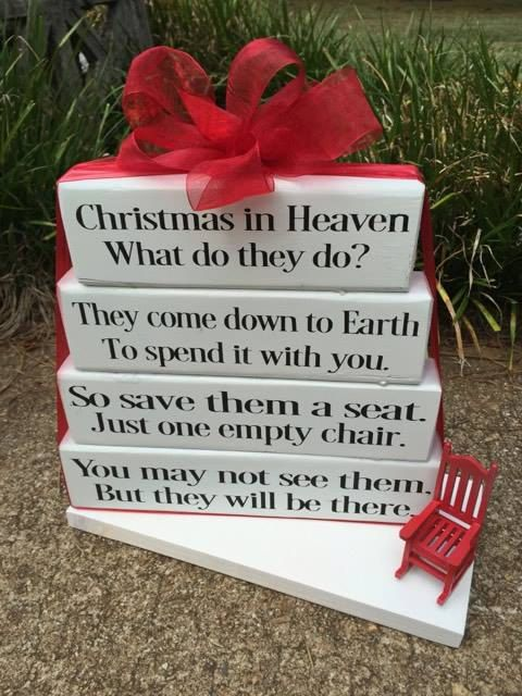 Christmas in Heaven what do they do sign wood by DesignedbyKandJ
