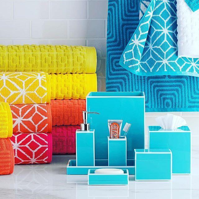 Pop-of-color perfect. #bed #bath #sale #horchow