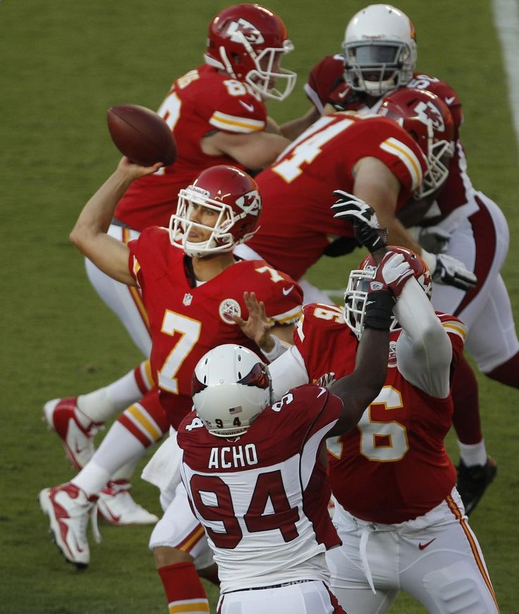Football season is here so get your NFL footballl betting ready! Before we bid the preseason goodbye, let's take a look at this Preseason action photo. Check out Kansas City Chiefs quarterback Matt Cassel (7) passes from the pocket during the first half of an NFL preseason football game against the Arizona Cardinals in Kansas City. Visit: www.sportsbook.ag...