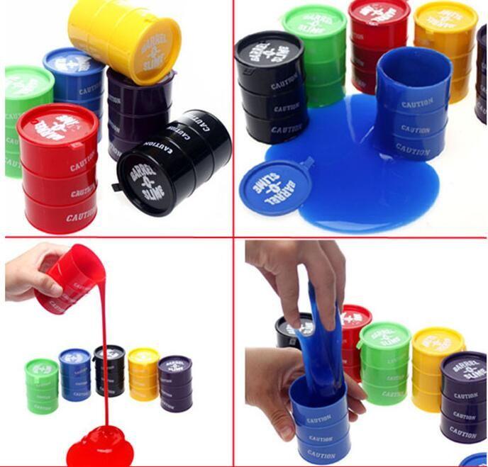 2017 New Barrel Slime Fun Shocker Joke Gag Prank Gift Toy Crazy Trick Party Supply Paint Bucket Novelty Funny Toys