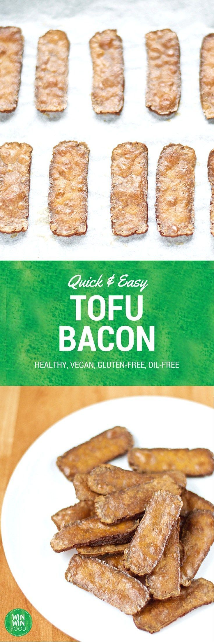 Tofu Bacon | WIN-WINFOOD.com #healthy #vegan #glutenfree #easy