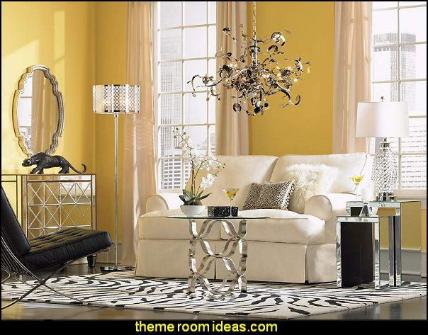Best Hollywood Glam Living Room Ideas Images On Pinterest