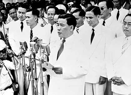 12. President Ngo Dinh Diem delivering address.