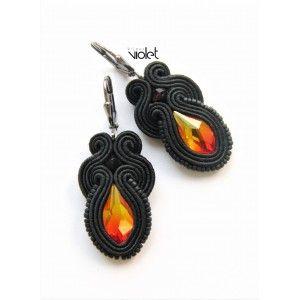 Soutache earrings - Fire In Me
