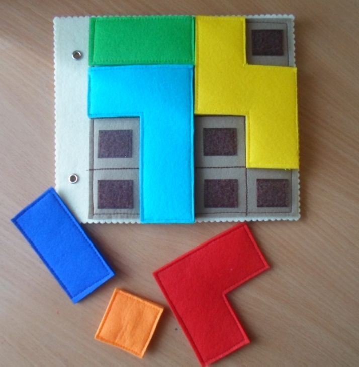 Tetris puzzle quiet book page idea