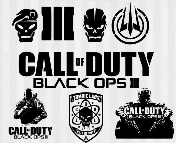 Call of Duty Black Ops 3 Digital download and SVG cutting files.  Use with your Silhouette Cameo, Silhouette Portrait, Cricut Explore, SCAL or other die cutting machines.  Make call of duty black ops shirts, wall decals, papercrafts and more. Vector designs are cuttable files.