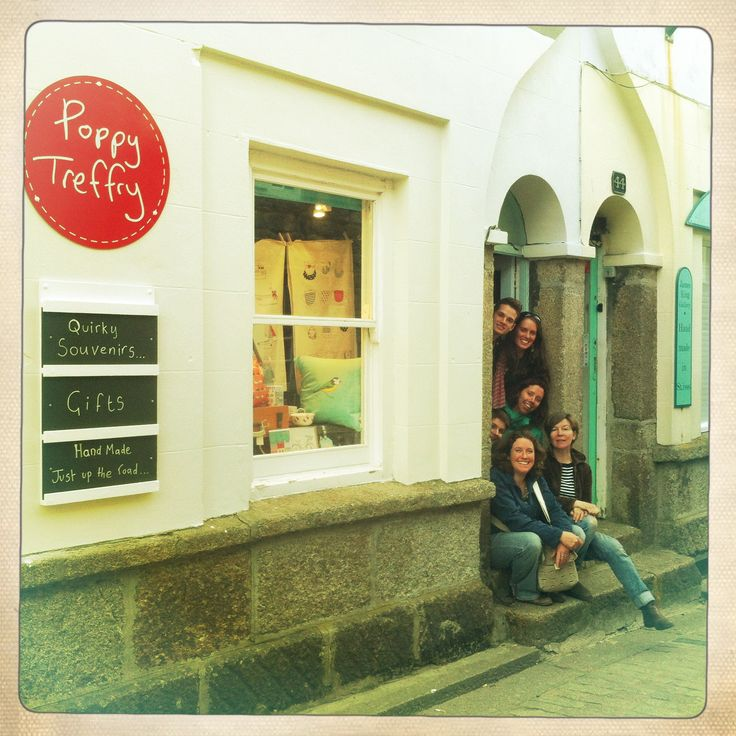 Of course a visit to Cornwall isn't complete without a quick nip into our shop! Poppy Treffry Shop in St Ives, Cornwall