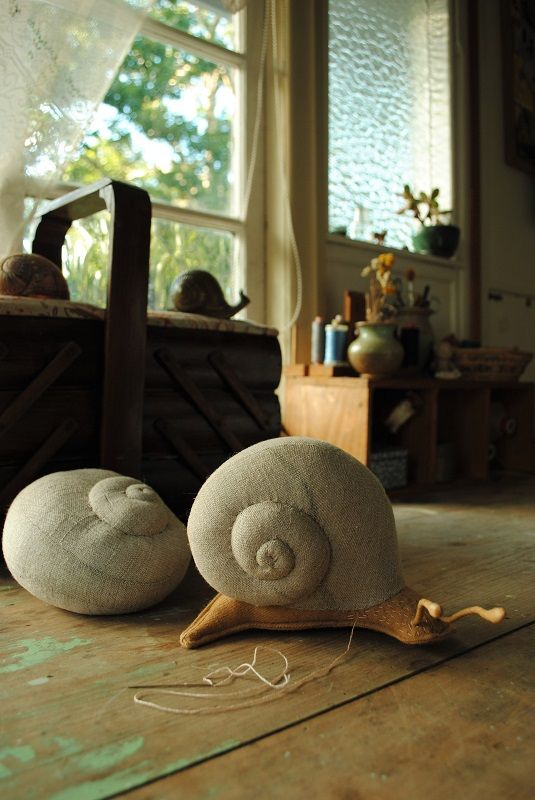Willowynn snail soft sculpture                                                                                                                                                      More