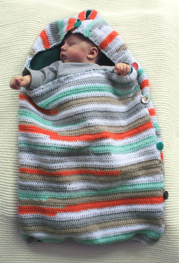 Free Crochet Pattern Baby Sleeping Bag : SLEEP SACK / sleeping bag with soft lining for baby ...