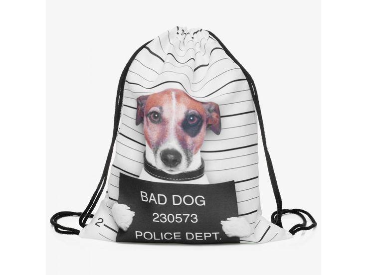 Vak na záda Gymsack s potiskem - Bad Dog