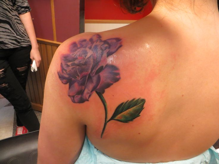 purple rose for my beautiful daughter with Cystic Fibrosis