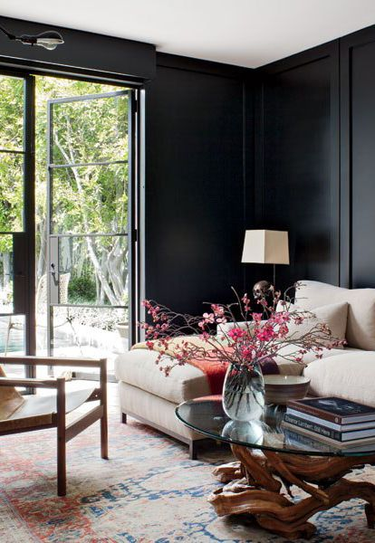 25+ best ideas about Black living rooms on Pinterest   Cute living ...
