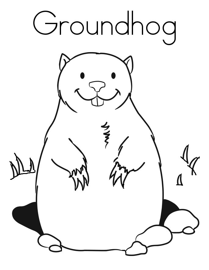 groundhog day coloring pages preschool - photo#3