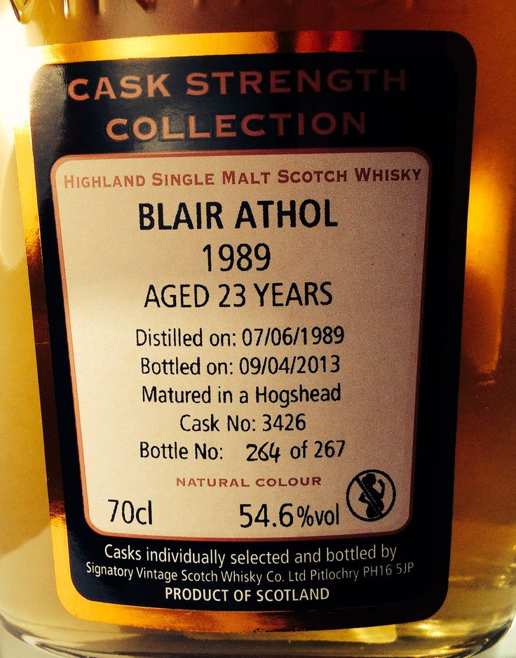 Blair Athol 1989/2013 23yo 54.6% (267 bottles)