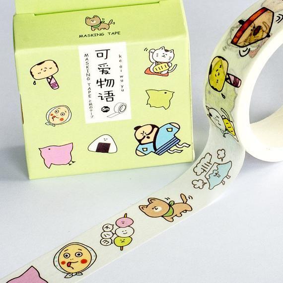 bullet journaling supplies food stationery Donut washi tape doughnut washi tape washi masking tape cute dessert paper strip