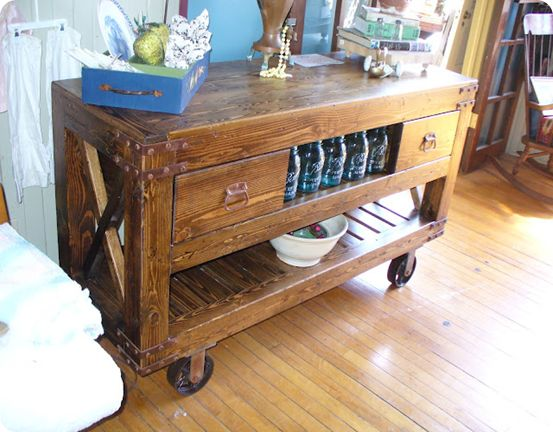 Reproduction Industrial Cart   Like This Website   Knockoffs On Pricey  Furniture
