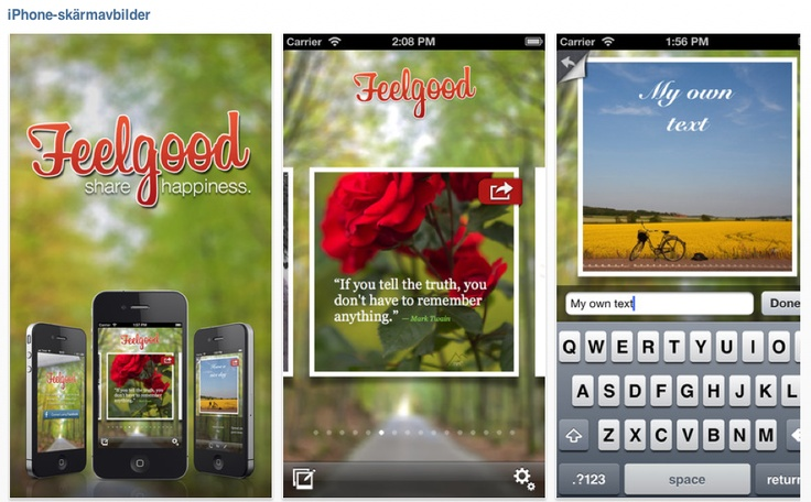 You will find it in App Store; https://itunes.apple.com/se/app/feelgood-share-it!/id581360454?mt=8