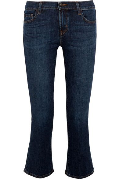 J Brand | Selena cropped mid-rise bootcut jeans | NET-A-PORTER.COM