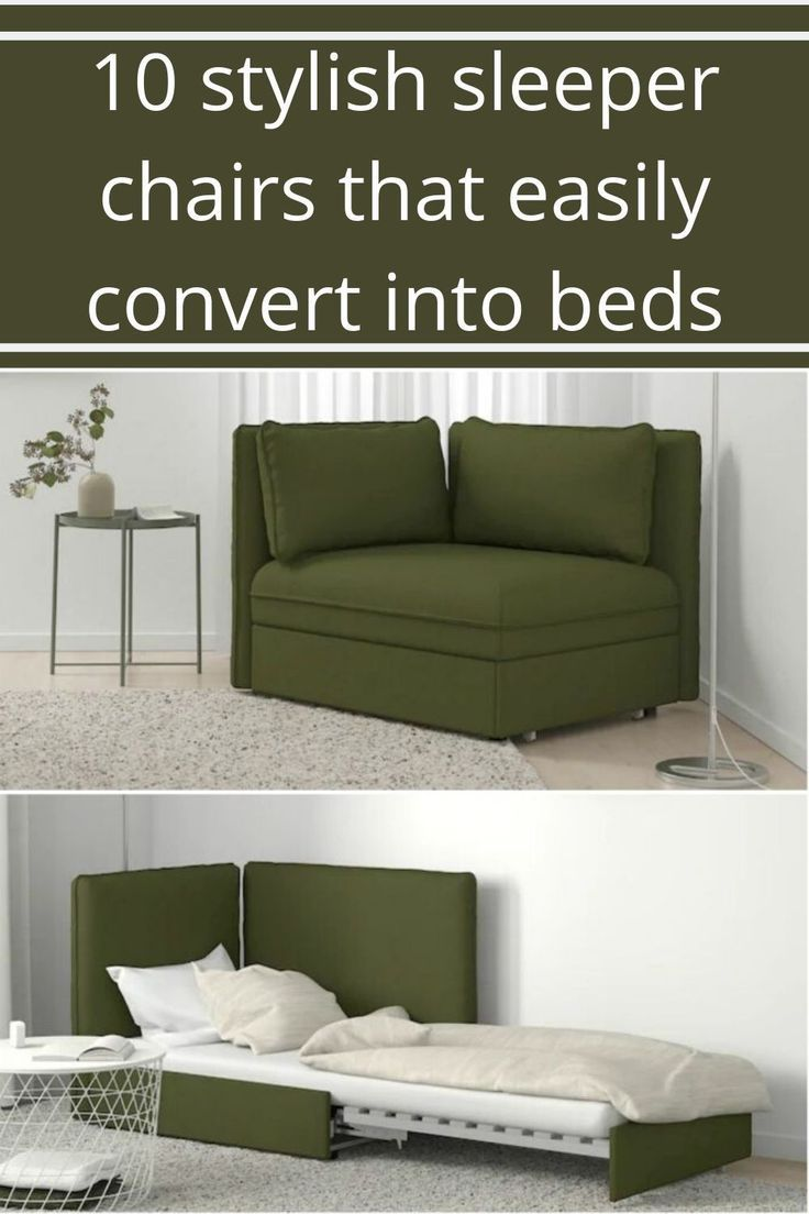 10 Stylish Sleeper Chairs That Easily Convert Into Beds Apartment Chairs Fold Out Beds Sleeper Chair Chairs that convert to beds