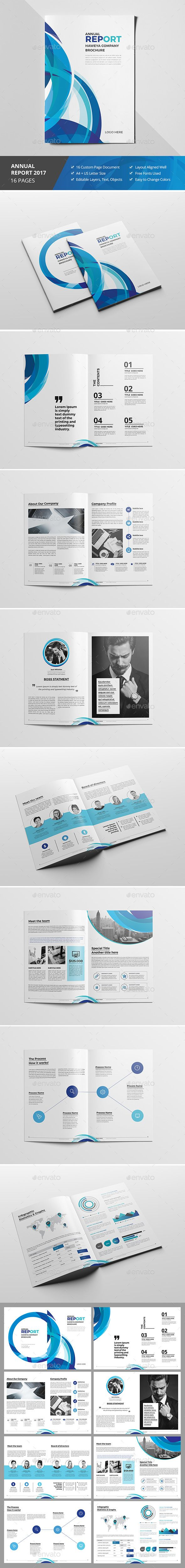 Haweya Clean Abstract Brochure Template InDesign INDD. Download here