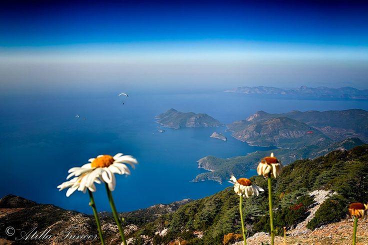 View to St. Nicholas (#Gemiler) Island near #Oludeniz from #Babadag mountain