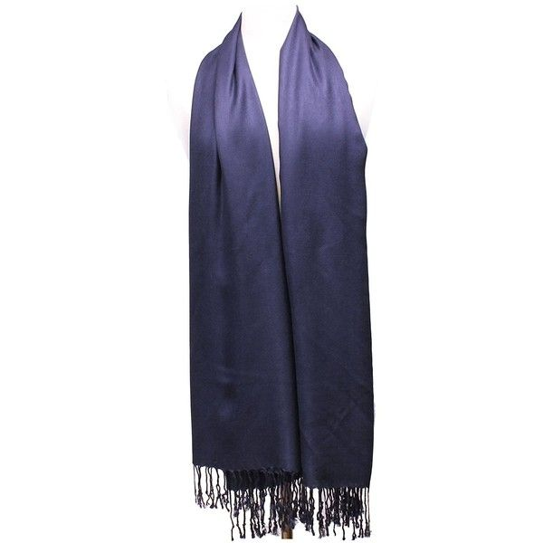 AN Womens Navy Blue Pashmina Shawl Wrap Scarf with Tassels at Amazon... (88 SEK) ❤ liked on Polyvore featuring accessories, scarves, navy wrap shawl, navy scarves, wrap scarves, shawl scarves and navy shawl