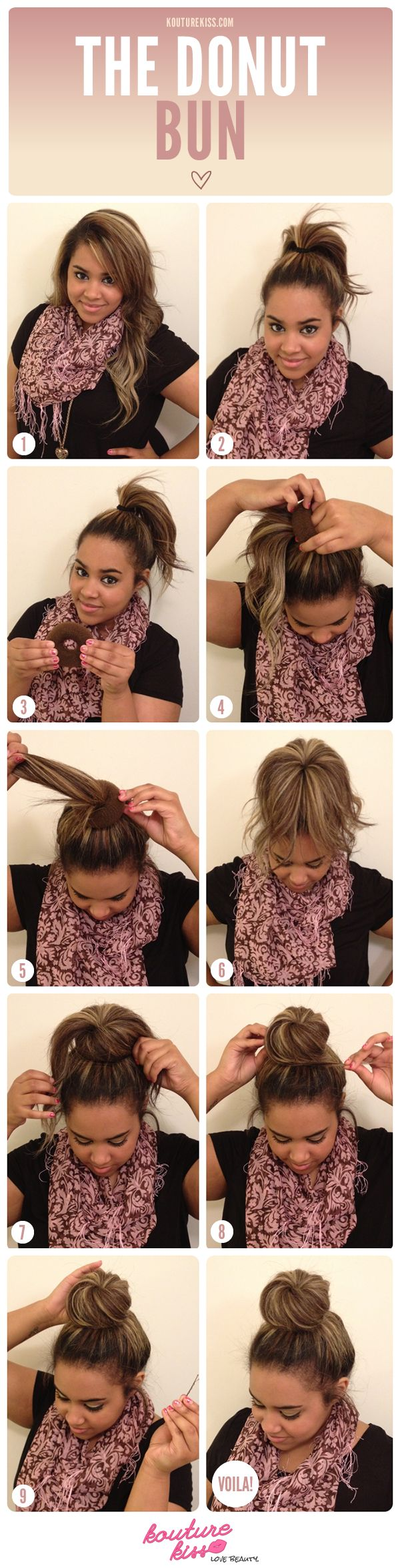 For the perfect ballerina bun, try a hair donut. | 25 Tips And Tricks To Get The Perfect Bun