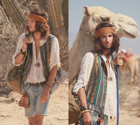 Boho Style for Men | Linen shirt traveller by Catherine