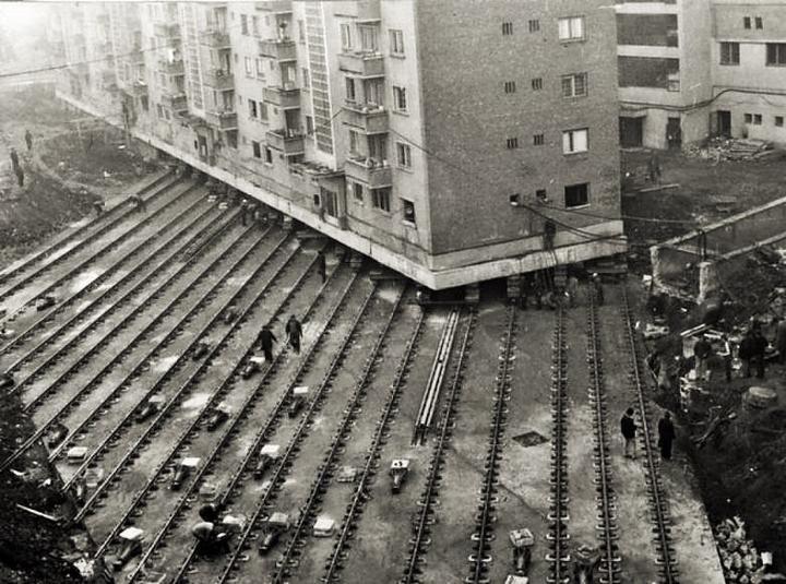 Как передвигали многоэтажные дома в СССР   Исторические ...