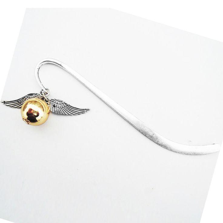 1 PCS Or De Mode Aile Meilleur Cadeau pour Lecteur Vif Harry Signet Charme Signet-Harry Potter Signet Cadeau livraison gratuite