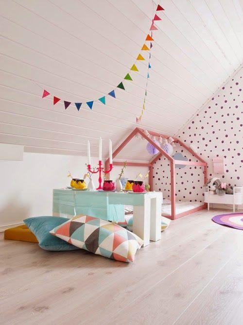 attic playroom #kids #play #spaces
