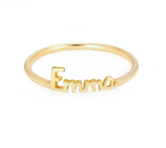 c0486016e3 Dainty Name Ring - Stackable Name Ring - Custom Name Ring ...