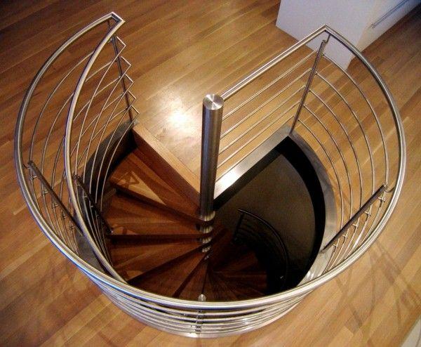Escalier en colimaçon avec un design étonnant