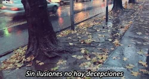 Y sin decepciones no hay ilusiones :'(