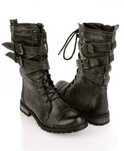 These womens combat boots (also called military boots) are kickass and currently at the top of my wish list.