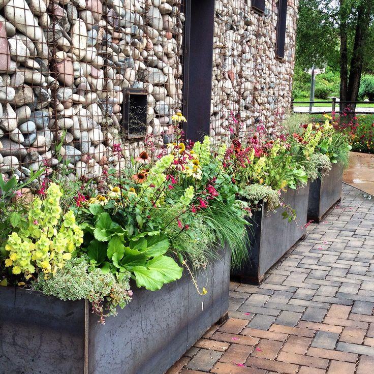 Container Planter: Aspen Colorado-Perennials For Container Gardens. Design By