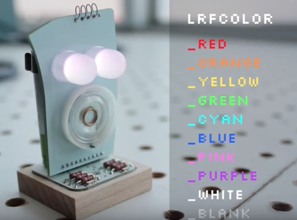 Learn to change your robot's eye colours and patterns to make your own expressions!