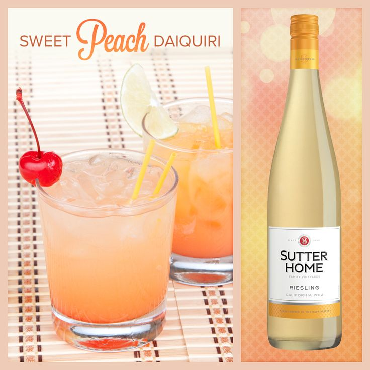 Sutter Home Wine Cocktail - Sweet Peach Daiquiri | Sutter Home