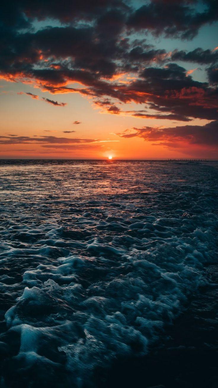 Sonnenuntergang am Strand Android Wallpaper
