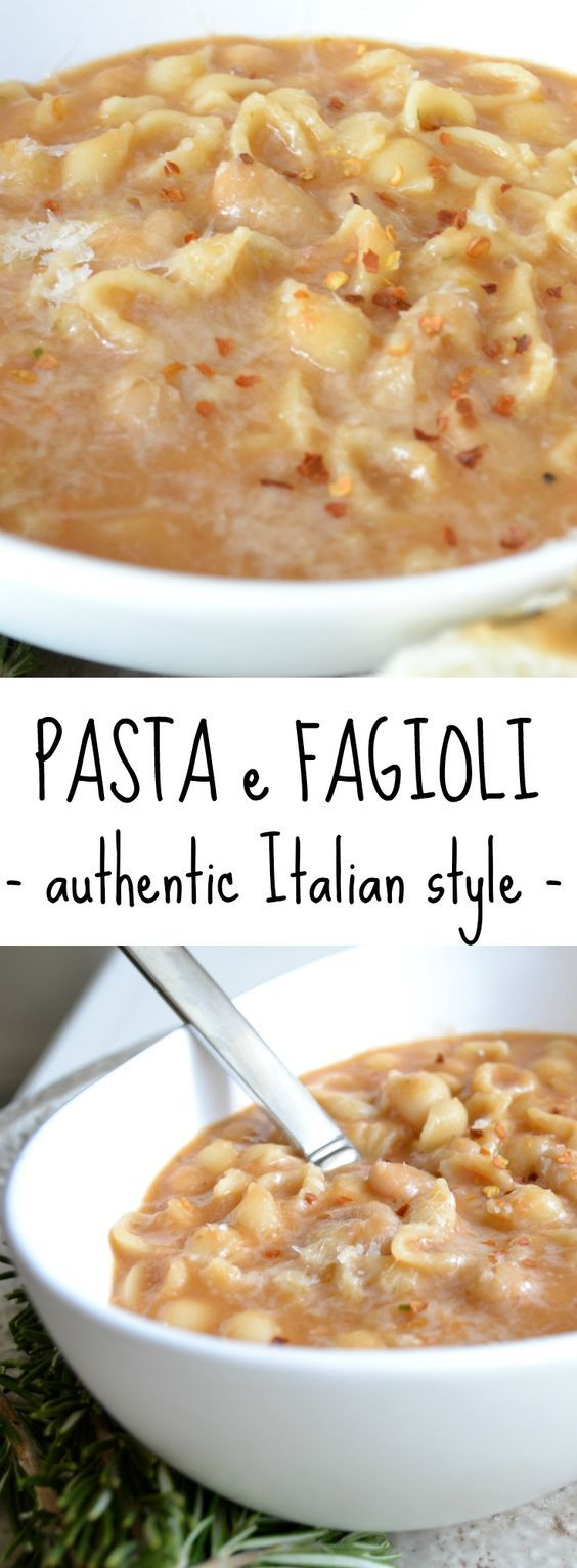 Authentic Italian pasta e fagioli soup recipe made with cannellini beans, pancetta, rosemary, onion, and stock. Comfort food at its finest!