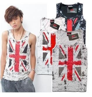 Cheap tank machine, Buy Quality tank tops for girls directly from China tank top fabric Suppliers: Flag Tank Top Mens Casual Sleeveless Singlet White Print Gym Style Summer Men's Vest Skateboard Sport Grey Britsh Flag T