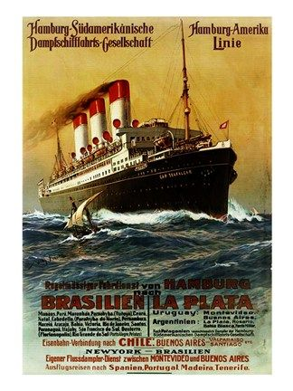 Poster of the Hamburg South American Steamship Company