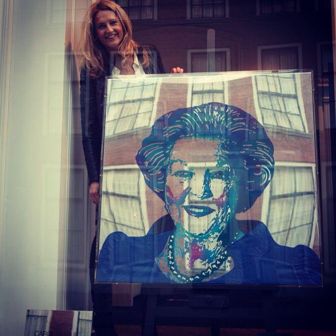Artwork Carola Pavlik, Reflection Loyalty Prinses Beatrix