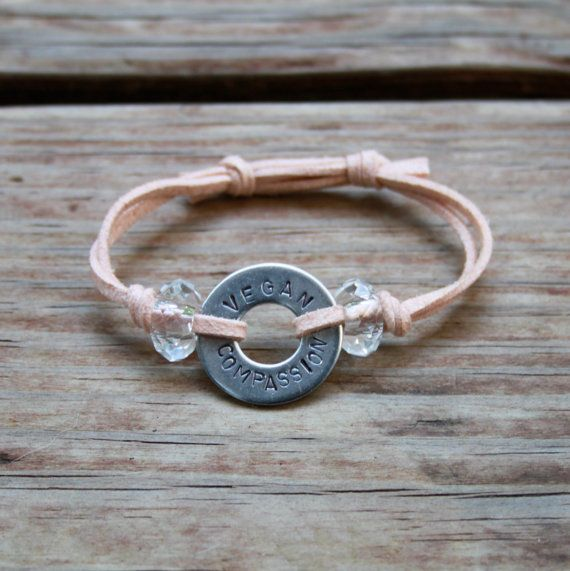 Glam Stamped Washer Bracelet by hollyday27 on Etsy, $20.00