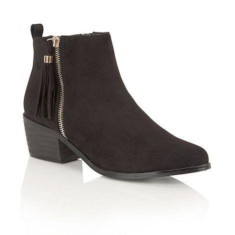 Dolcis Black 'Jamila' ankle boots | Debenhams